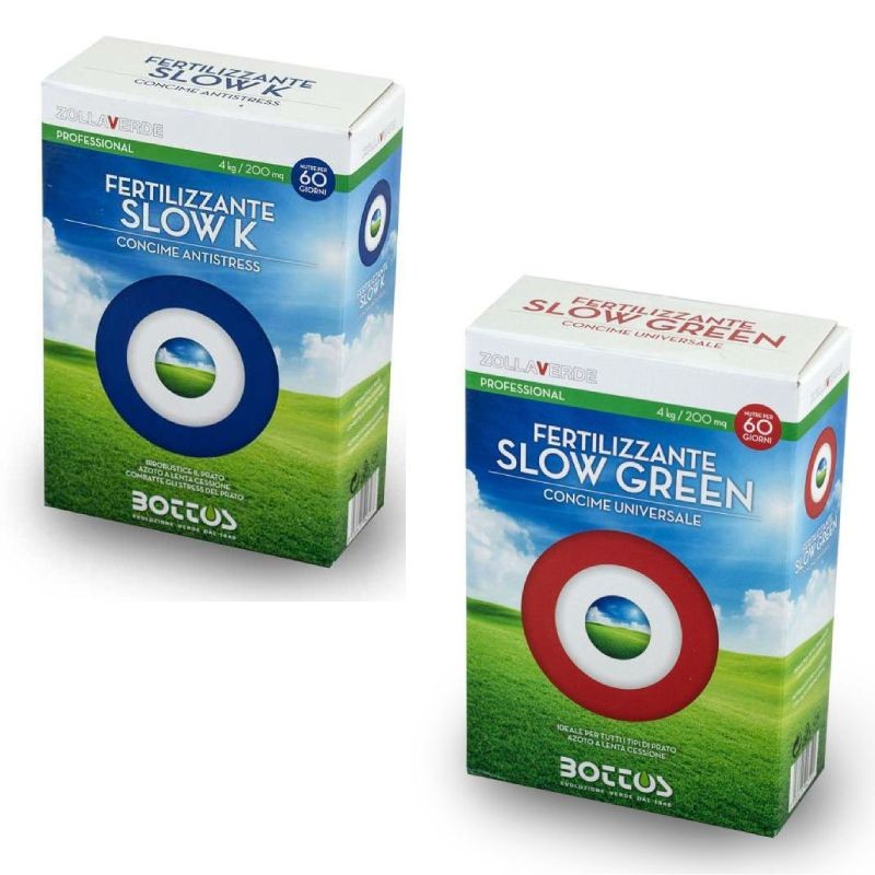 Pack concimi Bottos Slow K e Slow Green